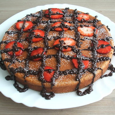 Strawberry Cake Garnished With Chocolate