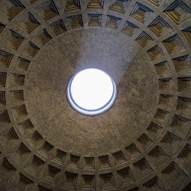 Pantheon Dome by Stefano Landenna - Buildings & Architecture Architectural Detail ( roma, rome, pantheon )