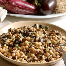 Chickpea and Eggplant Salad