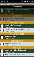 Screenshot of Jours Feries France 2013/14