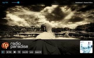 Screenshot of Radio Paradise Streaming Music