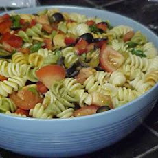 Spicy Pasta Salad with Coriander Dressing