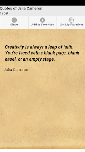 Quotes of Julia Cameron - screenshot
