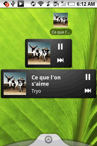 Pure music widget - screenshot