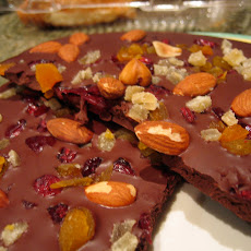Dark Chocolate Vanilla Almond Dried Fruit Bark