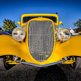 Yellow Ford by Ron Meyers - Transportation Automobiles