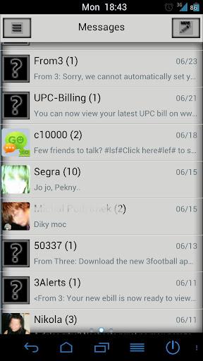 Go SMS Pro B$W Premium Theme