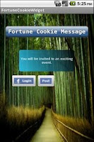 Screenshot of Fortune Cookie Widget Free