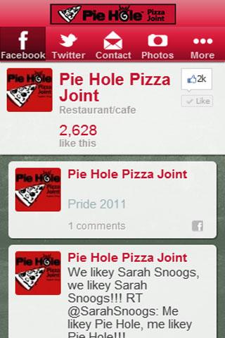 【免費生活App】Pie Hole Pizza Joint-APP點子