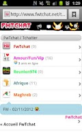 Screenshot of FwTchat ;  Le Tchat Mobile