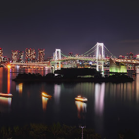 odaiba by Janiar Putra - City,  Street & Park  Night