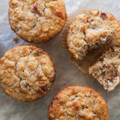 Oatmeal Muffins with Raisins, Dates, and Walnuts
