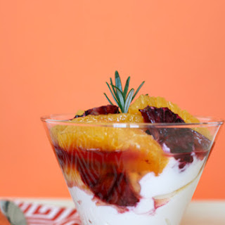 Blood Orange Parfait with Meyer Lemon Syrup