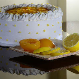Peach - Lemon Chiffon Cake by Ian Paez - Food & Drink Cooking & Baking