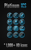 Screenshot of Platinum ICS - Icon Pack