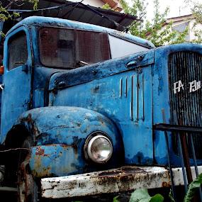 by Dijana Ristova - Transportation Other ( old, truck, blue,  )