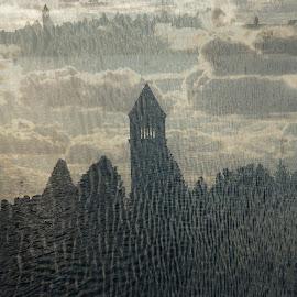 Reflections of Time by Aaron Allgrunn - Digital Art Places ( spokane, clock tower, clock, dreamscape, riverfront park,  )