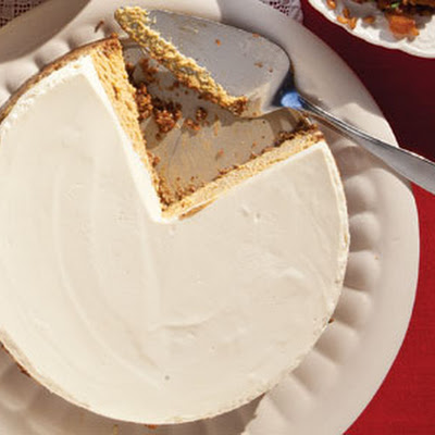 Pumpkin Cheesecake With Gingersnap and Hazelnut Crust