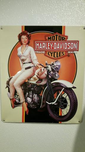 'Red' Harley Davidson Mural.
