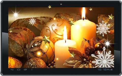 New Year Candles HQ LWP - screenshot