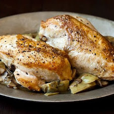 Roast Chicken Breasts with Mushrooms and Artichokes