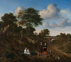 RIJKS: Adriaen van de Velde: Couple in a Landscape 1667