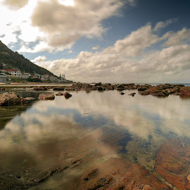 by Randall Langenhoven - Landscapes Waterscapes ( water, st james, reflections, long exposure, falsebay, capetown, seascape )