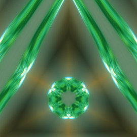 uranium green by Aaron Wigfall - Digital Art Abstract