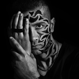 TRIBAL by Angelito Cortez - People Body Art/Tattoos ( face, fashion, hands, tattoo, portrait, man, eyes )