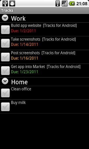 Tracks for Android