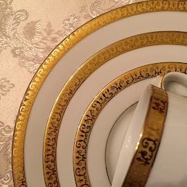 Golden Moment by Lope Piamonte Jr - Artistic Objects Cups, Plates & Utensils