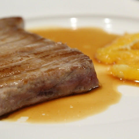 Tuna Steak with Soy Sauce and Orange