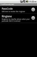 Screenshot of FindPhoneBySMS