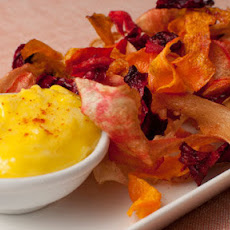 Smoked Garlic Aioli With Root Vegetable Crisps