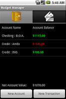 Screenshot of Budget Manager