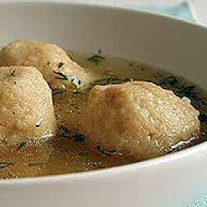 Muriel's Chicken Soup with Almond Matzo Balls