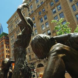 Famine by Kristin Patota - Buildings & Architecture Statues & Monuments ( statue, boston, irish famine )