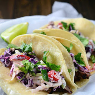 Skirt Steak Tacos with Jalapeno Slaw