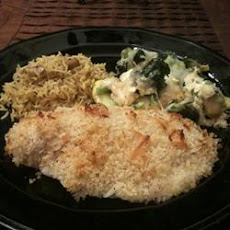 Baked Salmon with Coconut Crust