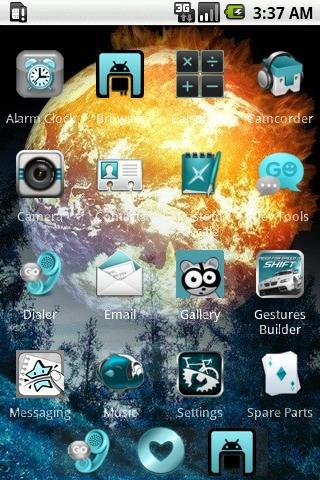 玩個人化App Burning Space [SQTheme] ADW免費 APP試玩