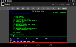 Screenshot of Mocha TN5250 LITE