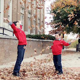 Fall fun by Amber Williams - Babies & Children Children Candids ( boys, fall, candid, fun, brothers,  )