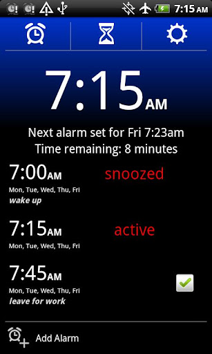 alarm-clock-xtreme for android screenshot