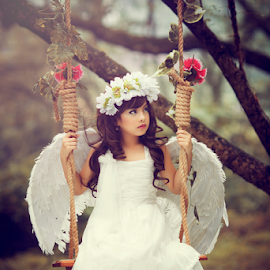 Litle Angel by Adiet Atmaja - Babies & Children Child Portraits