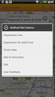 Screenshot of UK Train Times: Train Scout