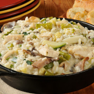 One-Pot Veggie & Chicken Risotto