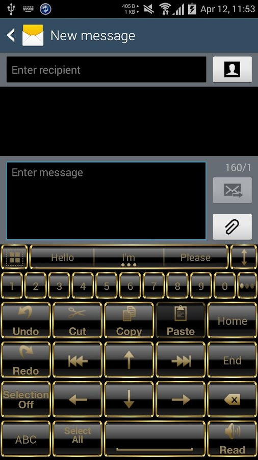 Theme for A.I.type Frame Gold Screenshot 5