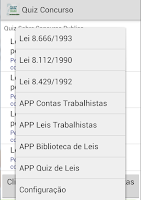 Screenshot of Quiz Concurso Publico Pro