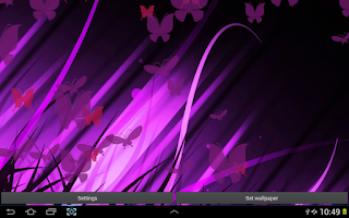 Screenshot of Purple Butterfly Wallpaper
