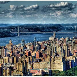 NYC From Up High by Rachel Ellentuck - Landscapes Travel ( george washington bridge, nyc, new york city, landscapes, landscape )